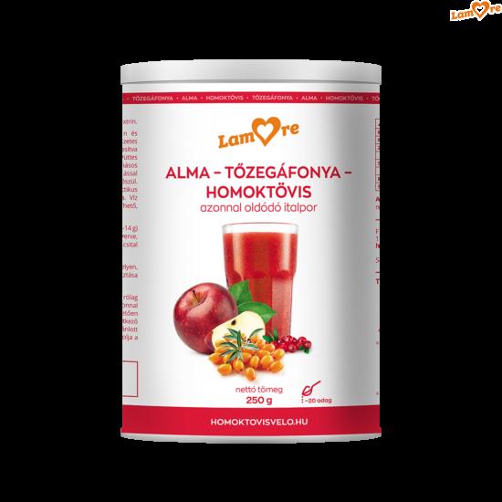 alma-tőzegáfonya-homoktövis-sárgarépa italpor - 250 gr
